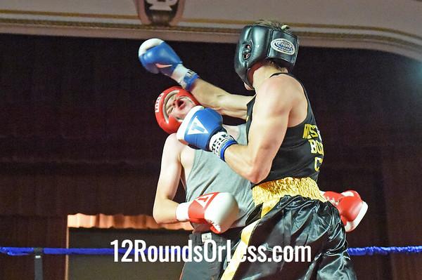Bout 8 Taras Voronyuki, WSBC, Strongsville -vs- Roy McKenzie Jr, Mickey Scodova's Boxing, Norwalk,  141 lbs, Novice