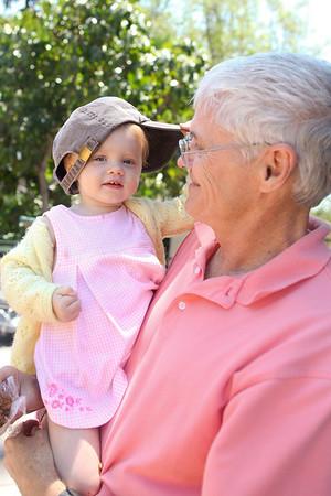 Nana, Granbrad, and Nene at the Zoo