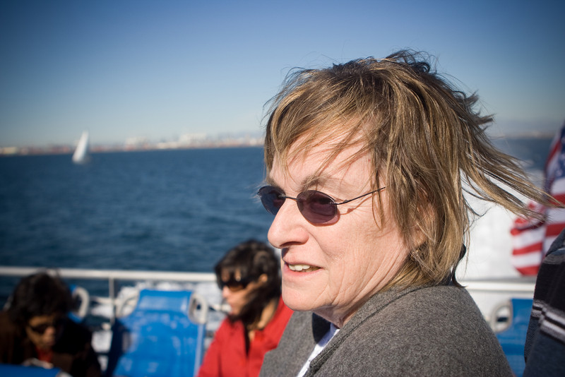 My mom on the ferry