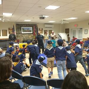 October 2014 Pack Meeting Karate Demo