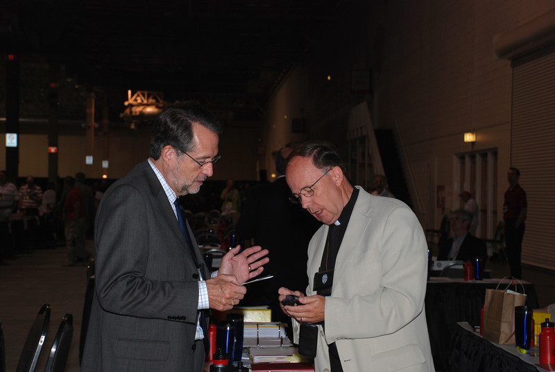 The Rev. Richard Magnus with The Rev. Craig Settlage at Tuesday's Plenary session.