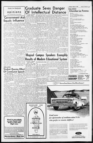 Daily Trojan, Vol. 55, No. 73, March 02, 1964