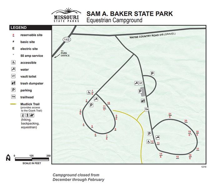 Sam A. Baker State Park (Equestrian Campground)