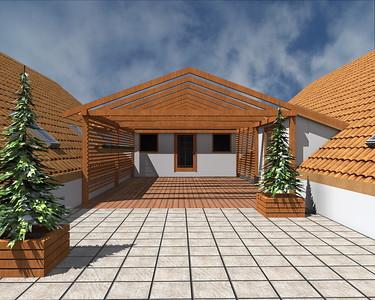 Zimní zahrada na střeše