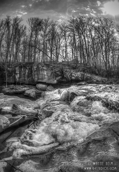 Rushing Rapids   Black & White Photography by Wayne Heim