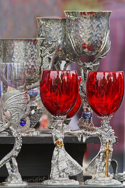 The Royal Goblets ~ This was part of a display for sale at the Renaissance Faire.