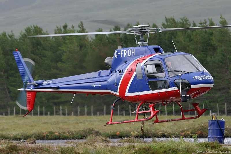 G-FROH AS350B2 Specialist Helicopters @ Braemore Forest Scotland 17Jul06