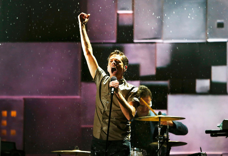 . Nate Ruess, lead singer of Fun, performs at the 55th annual Grammy Awards in Los Angeles, California, February 10, 2013.  REUTERS/Mike Blake