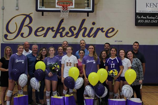 '18 Berkshire Volleyball Senior Night