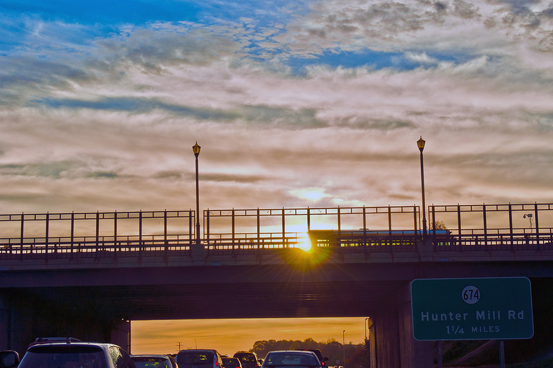 Sunrise over the Bridge. Morning Commute Series.  http://sillymonkeyphoto.com/2010/10/30/sunrise-over-the-bridge/  Thanks for stopping by!