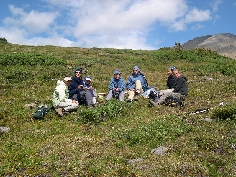Meadow Lunch: A little climbing sure makes lunch taste good.  Tuna salad on crackers never tasted so good.