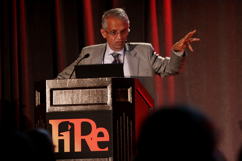 """V. """"Ram"""" Ramanathan, Distinguished Professor of Climate Sciences and Director of C4 at Scripps, UCSD, opens the FiRe conference with """"Practical Strategies for Solving the Climate Problem"""""""