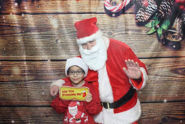 pizza and santa