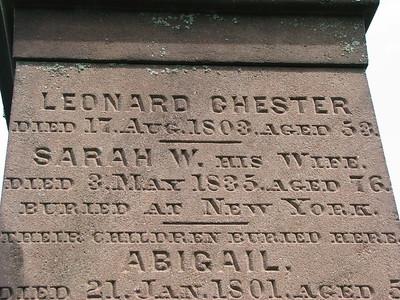 Leonard Chester Grave (Cenotaph?)