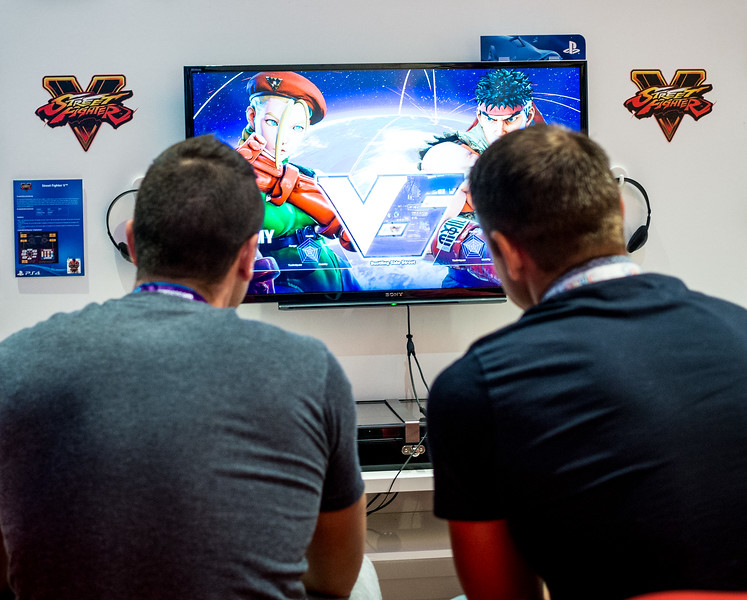 Street Fighter V at Gamescom 2015