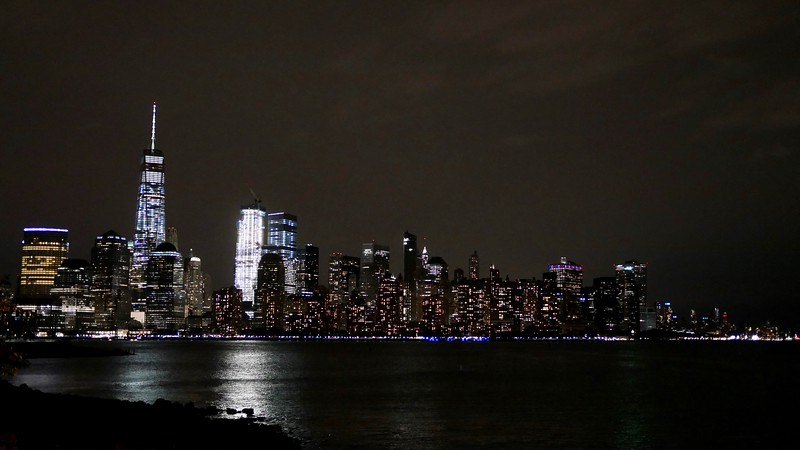 NYC skyline from Liberty Harbor ferry terminal