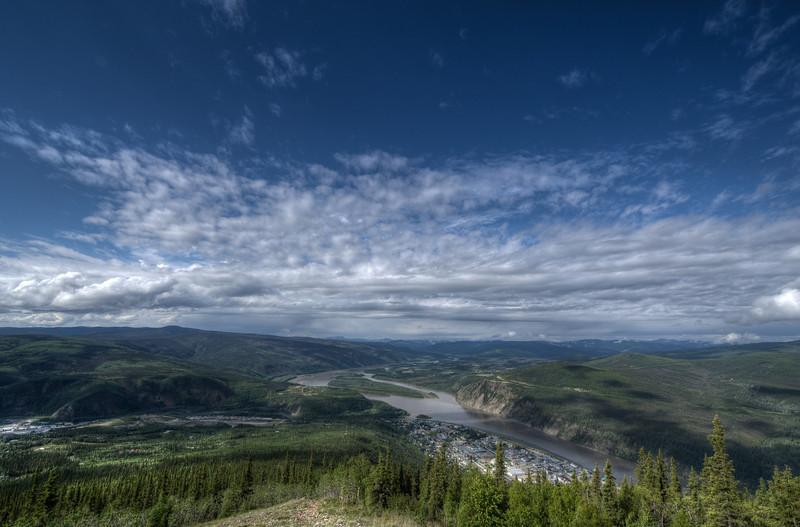 View of Dawson City from Dome Mountain, Dawson City, Yukon