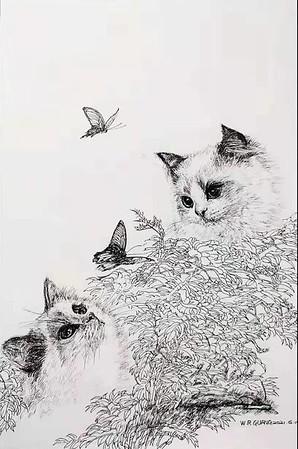 """""""Wind in summer"""" (felt-tip pen) by Weirong Guan"""