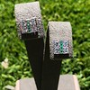 Art Deco Diamond and Emerald Disc Earrings 48