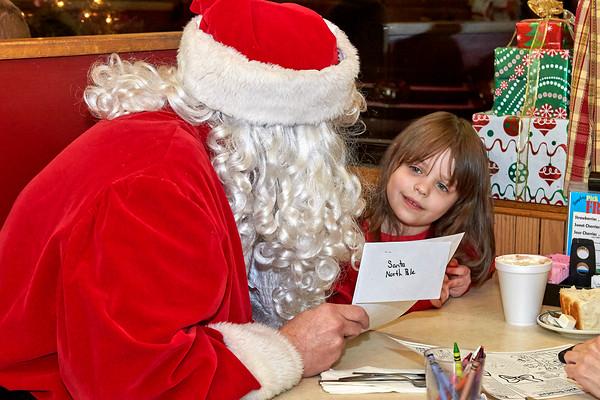 12-16-19 Santa Visits Baughers Restaurant, Westminster, Md