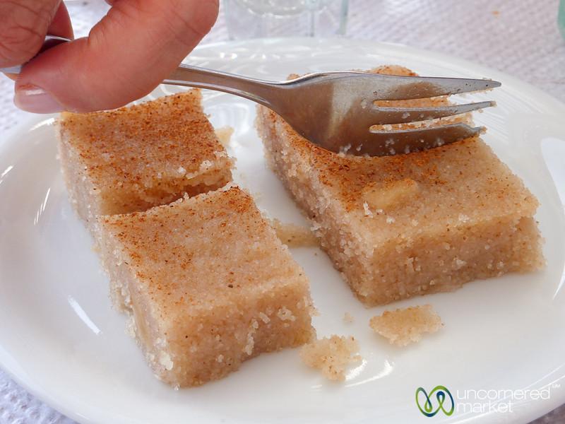 Halvas (Semolina Dessert) - Crete, Greece