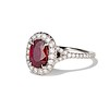1.52ct Ruby Halo Ring, GIA No Heat 1