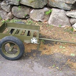 JOHN WOOD MFG. CO. 81MM MORTAR HAND CART