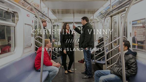 CHRISTINA + VINNY ////// STATEN ISLAND FERRY