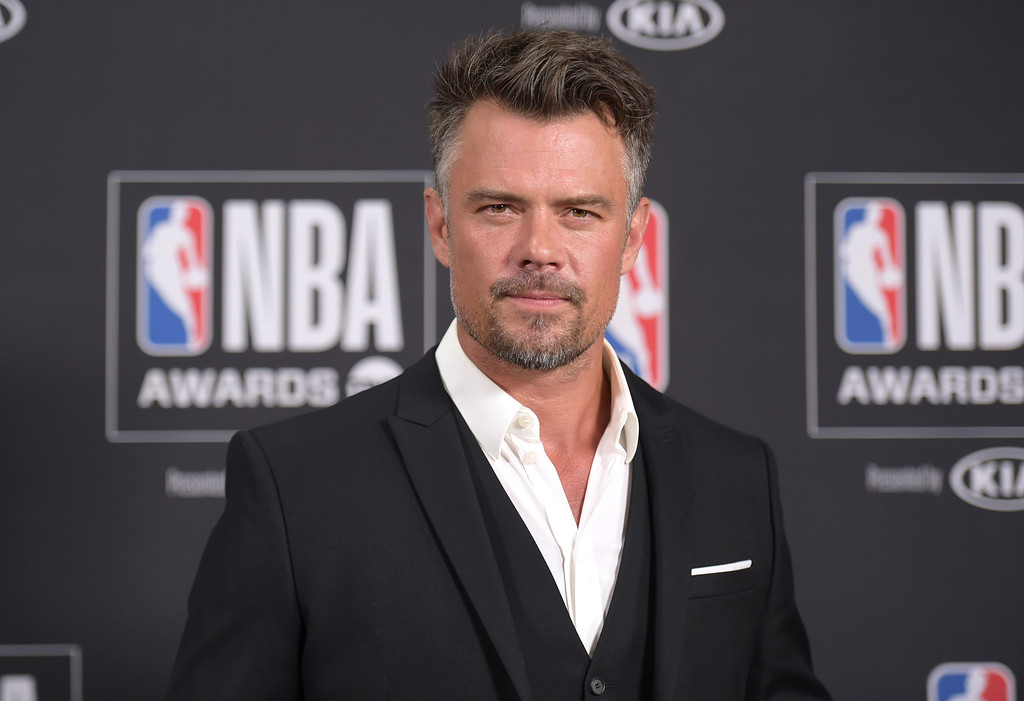 . Josh Duhamel poses in the press room at the NBA Awards on Monday, June 25, 2018, at the Barker Hangar in Santa Monica, Calif. (Photo by Richard Shotwell/Invision/AP)