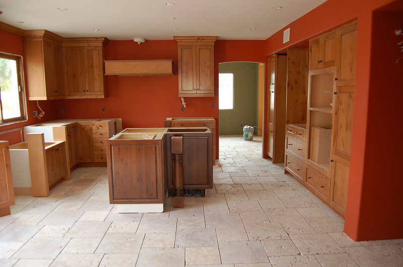 The kitchen is beginning to look finished.