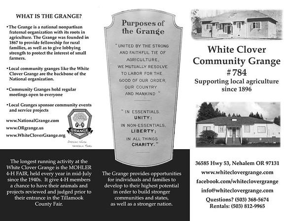 White Clover Grange Trifold 2016