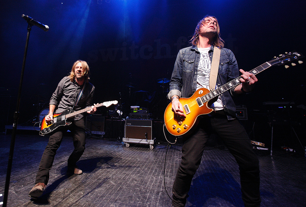. Jon Foreman and Drew Shirley of Switchfoot at Fillmore Detroit Thursday night, Dec. 12, 2013. Photo by Ken Settle