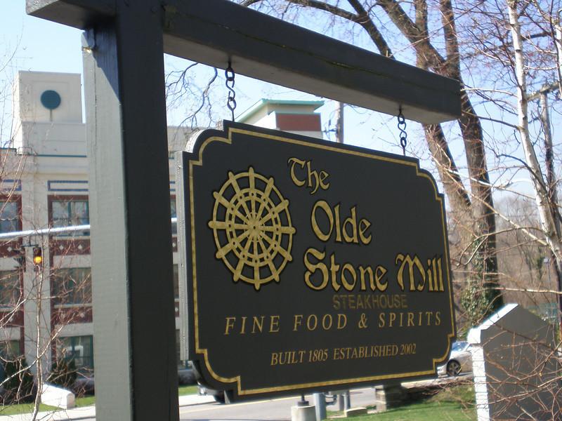 The Olde Stone Mill Restaurant, Tuckahoe, NY  Saturday, April 3, 2010