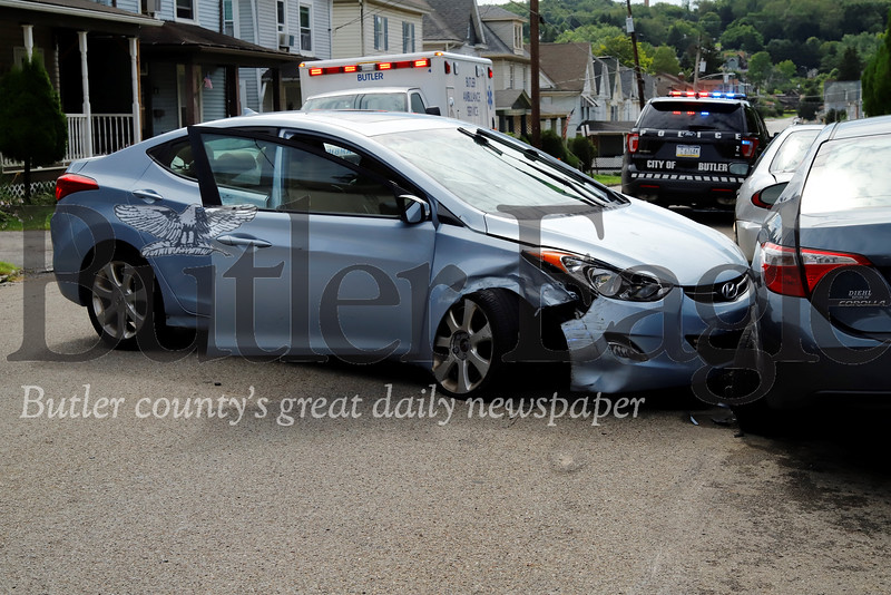 Accident on 509 West Penn St, Butler. 7/22/19 Seb Foltz/Butler Eagle
