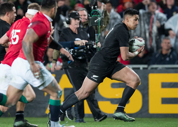 Rieko Ioane during game 7 of the British and Irish Lions 2017 Tour of New Zealand, the first Test match between  The All Blacks and British and Irish Lions, Eden Park, Auckland, Saturday 24th June 2017 (Photo by Kevin Booth Steve Haag Sports)  Images for social media must have consent from Steve Haag