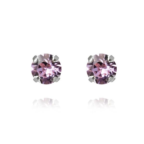 Classic Stud Earrings - Violet-rhodium.jpg