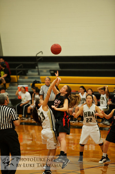Iolani Girls JV BB 12/17/2011