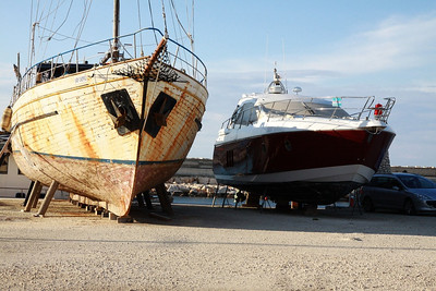 Neglected boats of Latchi
