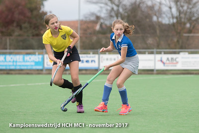 Kampioenswedstrijd HCH MC1 - November 2017