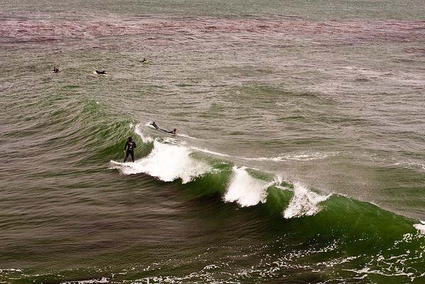 Surfing at Steamers Lane, Santa Cruz