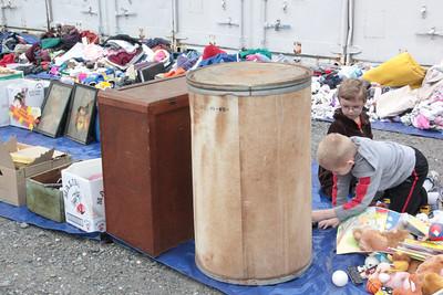 Community Donation Drop Off, Giveaway, Rose Street, Tamaqua (8-25-2012)