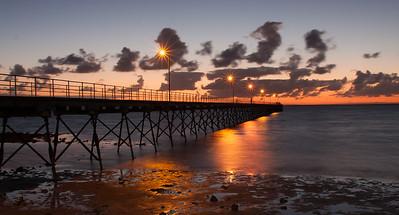 Stephen Edmonds - Sunset over Ceduna jetty