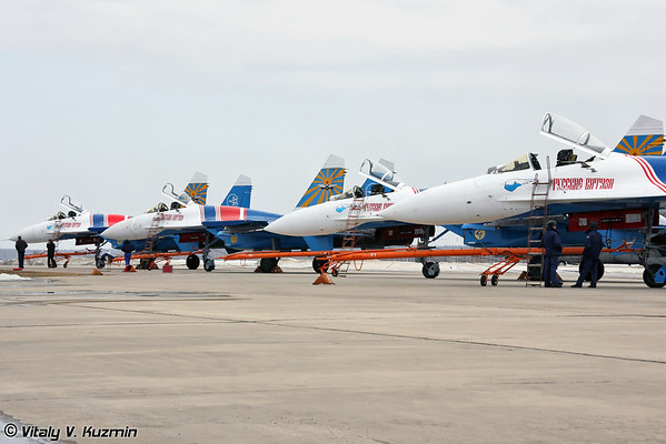 20th anniversary of the foundation of Russian knights aerobatic team