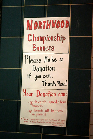 Crowd shots and Northwood Banner Unveiling at January 30th Wheaton Game