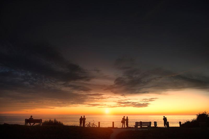 Windansea La Jolla Sunset Silhouette