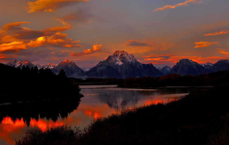 Sunrise at Oxbow Bend,The Grand Tetons