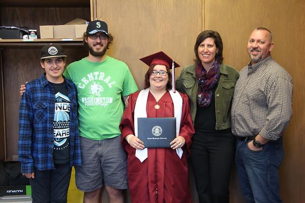 Natalie's CWU graduation - June 11, 2016