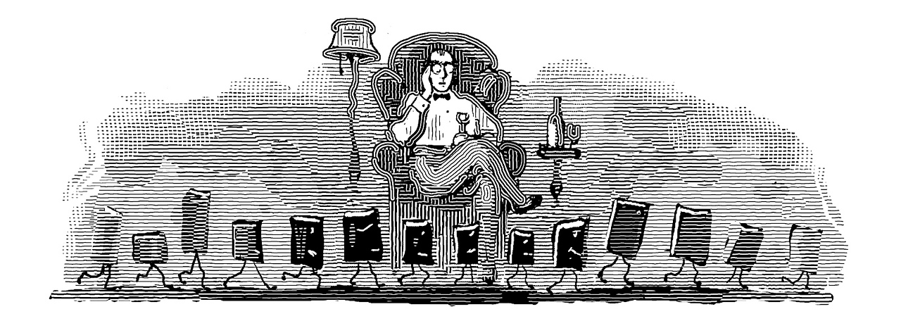 The Contemplative Reader; art for the Contents page of the Summer 2009 Claremont Review of Books