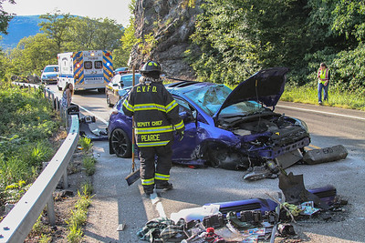9-10-17 MVA Rollover With Injuries, Bear Mountain Bridge Road, Photos By Bob & Sue Rimm