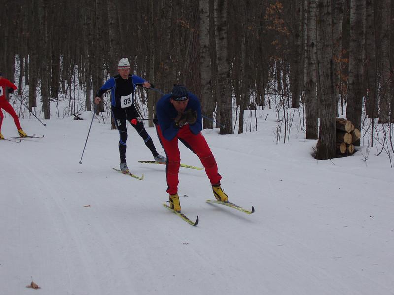 Is that Kip leading Doug Heady (Team NordicSkiRacer.com)?